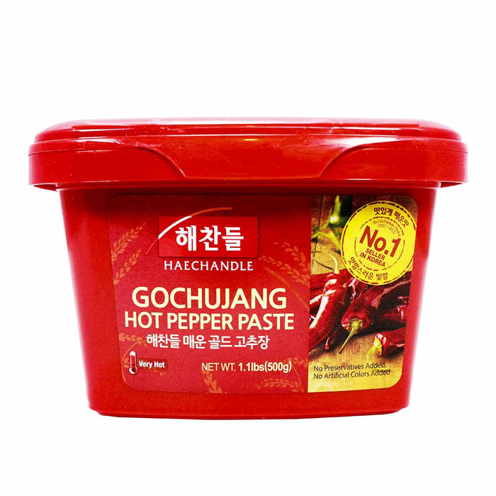 Haechandle Gochujang Hot Chile Pepper Paste, Korean, 1.1 lbs, 500g