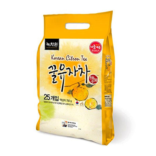 Korean Honey Citron Tea Packets by Nokchawon, 25 packets