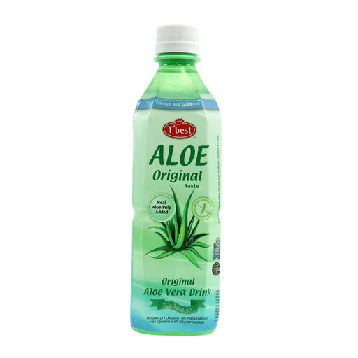 Aloe Vera Drink, Original Taste with 30% Aloe Vera by Tbest, 16.9 fl oz (500mL)