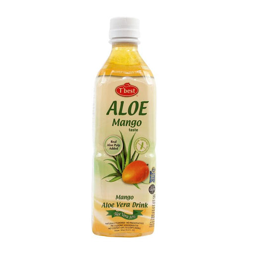 Mango Aloe Vera Drink with 30% Aloe by Tbest, 16.9 fl oz (500mL)