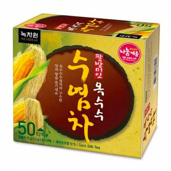 Korean Corn Silk Tea Bags with Crispy Rice, 50 Tea Bags x 1.5g