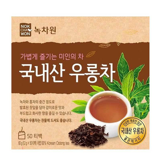 Korean Oolong Tea by Nokchawon, 50 Tea Bags x 1.2g