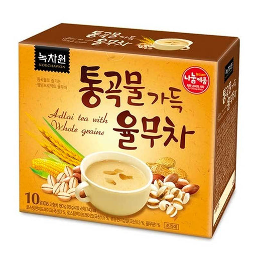 Nokchawon Korean Adlai Tea with Whole Grains Instant Tea, 10 Sticks x 18g