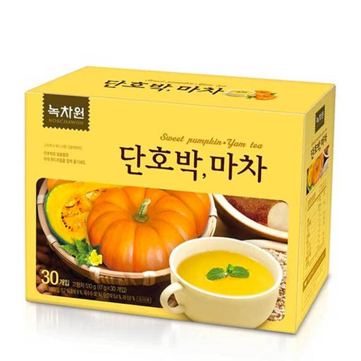Korean Sweet Pumpkin and Yam Instant Tea by Nokchawon, 15 Sticks x 17g