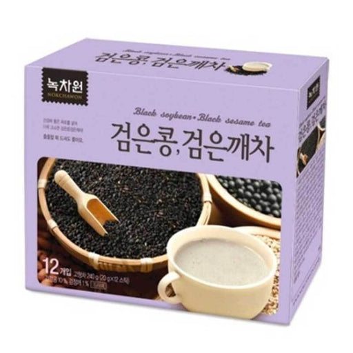 Korean Black Sesame and Black Soybean Tea Instant Mix, 12 Sticks x 20g