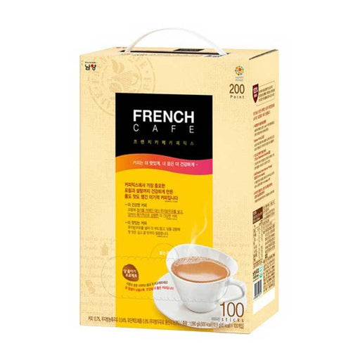 French Cafe Gold Instant Korean Coffee 3 in 1, 110 Sticks by Namyang, 110 x 11 g
