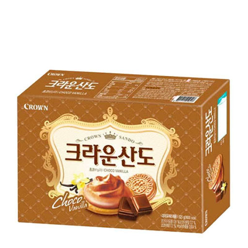 Sando Choco Vanilla Sandwich Cookies, The Queen's Secret Recipe, 5.7 oz (161 g)