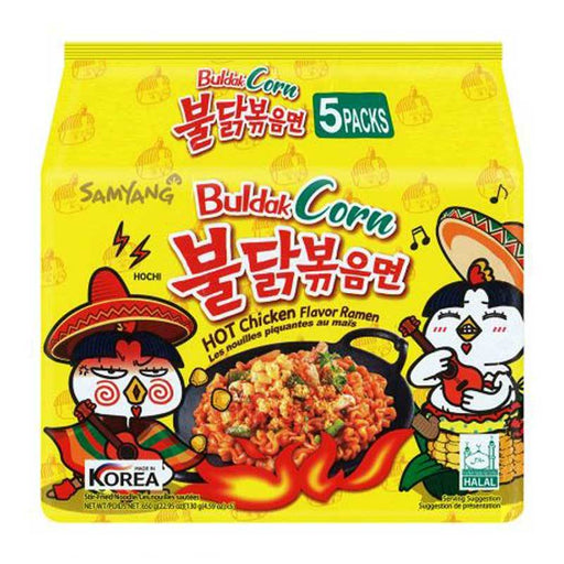 5-Pack Samyang Corn Spicy Chicken Ramen, 4.5 oz. x 5