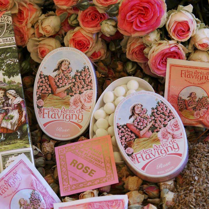 Les Anis de Flavigny Rose Flavored Anise Candy 1.7 oz. (50g)