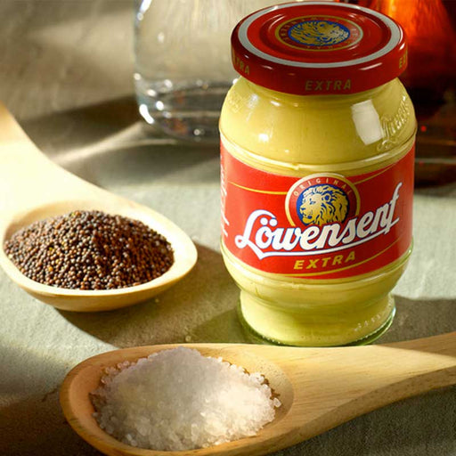 Lowensenf Extra Hot Mustard, Mini 3.3 fl oz. (100 ml)