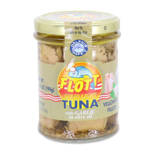 Flott Yellowfin Tuna with Garlic in Olive Oil, 6.75 oz (190 g)