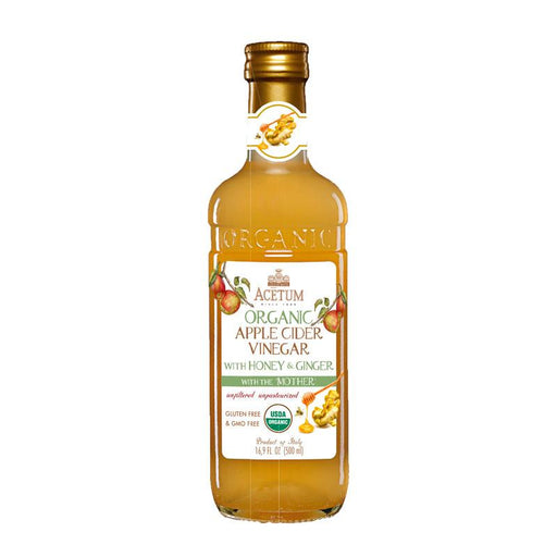 Acetum Organic Apple Cider Vinegar with Ginger, Unfiltered, 16.9 fl oz (500 mL)