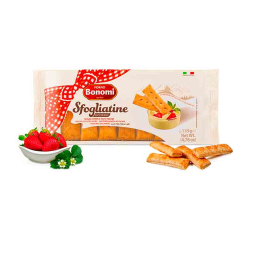 Sfogliatine Italian Puff Pastry Cookies, Sugar Topped 7 oz (200 g)