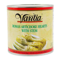 Vantia Roman Artichoke Hearts with Stem, 5lb 1.1 oz (2.3 kg)