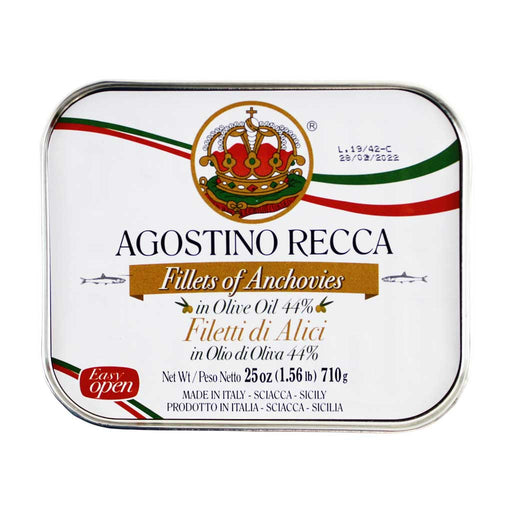 Agostino Recca Anchovies Fillets in Olive Oil, 25 oz. (710 g)