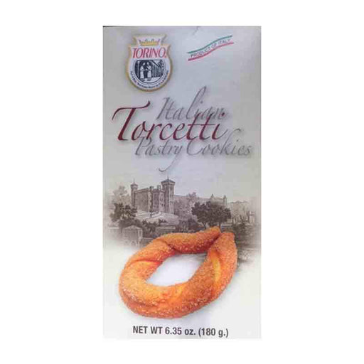 Torcetti Cinnamon Twist Flaky Sweet Italian Cookies, 4.2 oz. (120g)