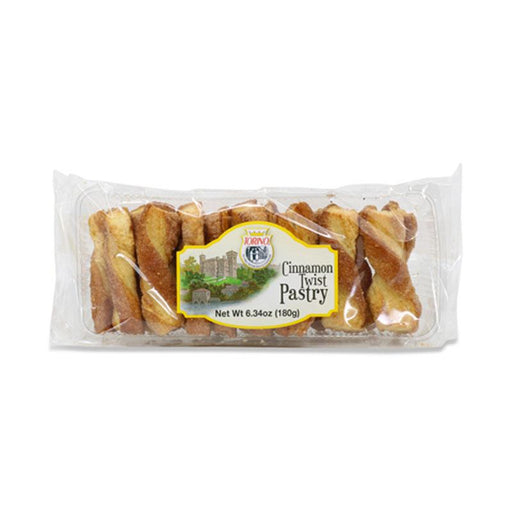 Italian Cinnamon Twists Puff Pastry Dusted in Cinnamon Sugar by Torino, 6.34 oz. (180 g)