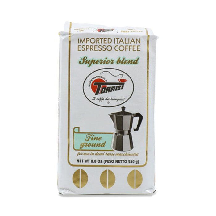 Torrisi Superior Blend Fine Ground Coffee, 8.8 oz. (250 g)