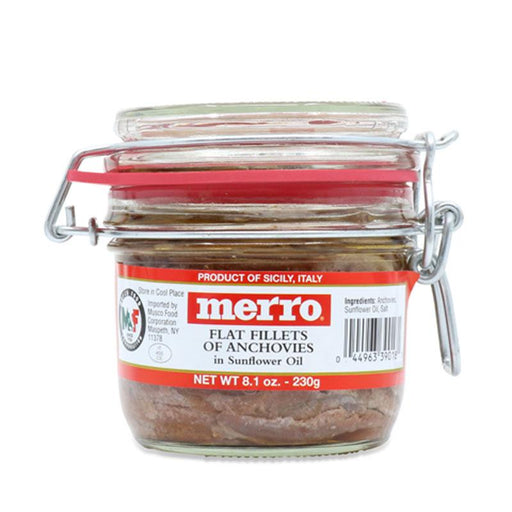 Merro Anchovies in Sunflower Oil, 8.1 oz. (230g)