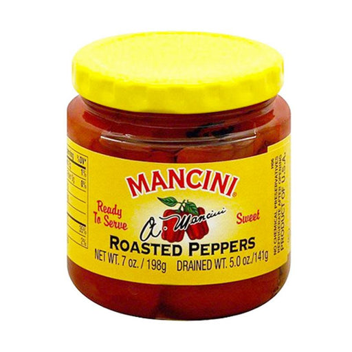 Mancini Peppers, Roasted Red, 7 oz. (198g)