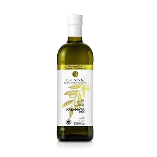 Iliada Kalamata PDO Extra Virgin Olive Oil, White Label 33.8 oz. (1L)
