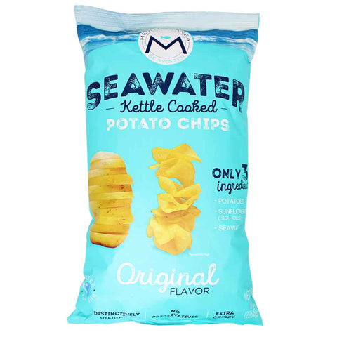 Mediterranea Seawater Seawater Kettle Cooked Potato Chips 8 oz. (226 g)