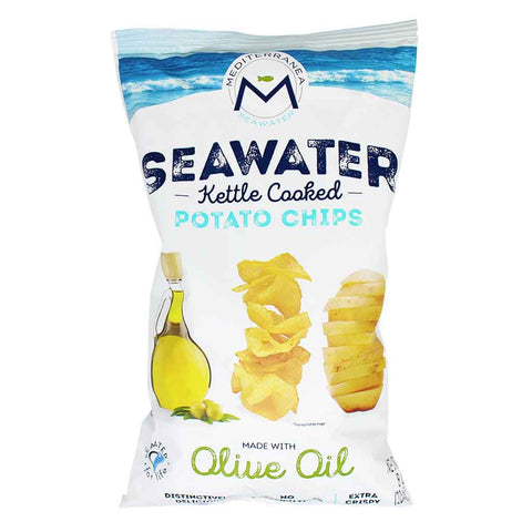 Mediterranea Seawater Seawater Kettle Cooked Potato Chips with Olive Oil 8 oz. (226 g)