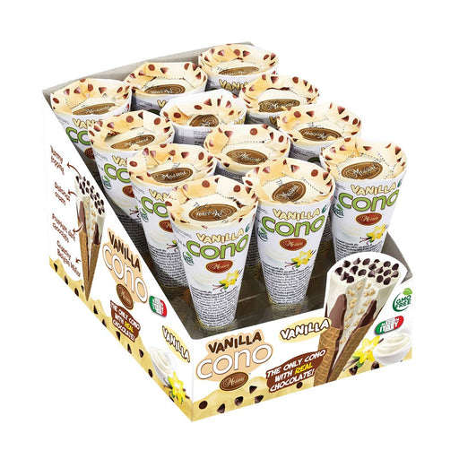Messori Cono Snacks, Vanilla, 12 x 0.9 oz (25 g)