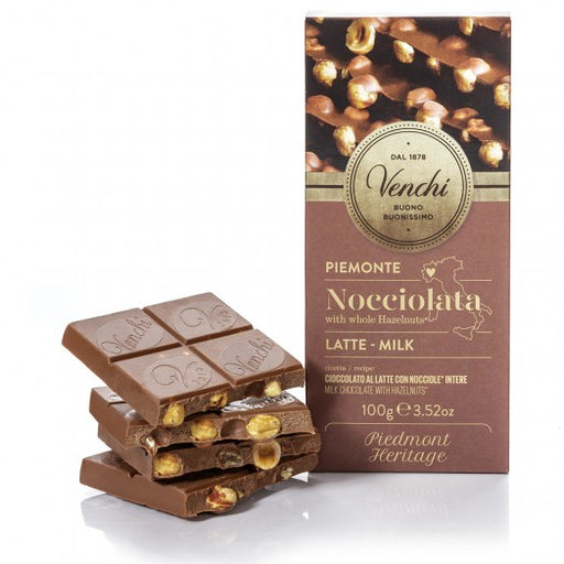 Venchi Milk Chocolate with Whole Hazelnuts 3.5 oz (100g)