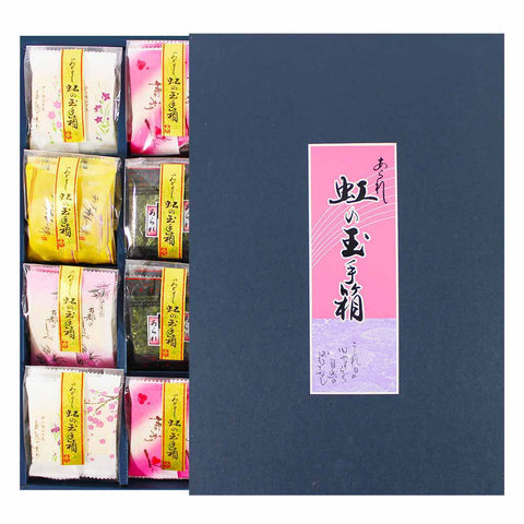 Morihaku Assorted Rice Cracker Niji No Tamatebako Gift 4 oz. (115g)