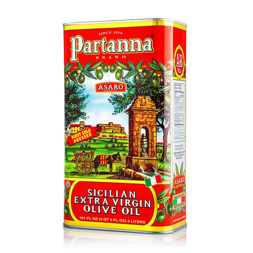 Partanna 3-Liter Tin Extra Virgin Olive Oil, 101 fl oz