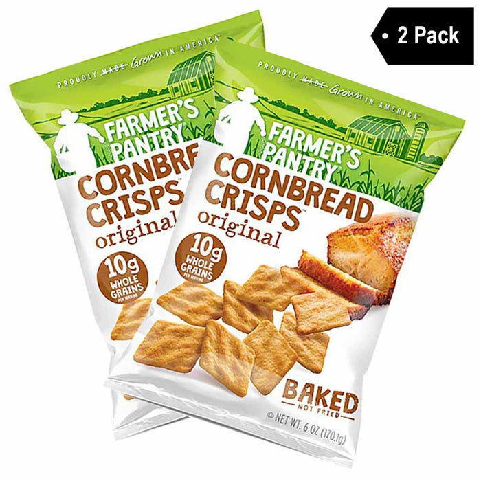 2 Pack Large Farmer's Pantry Original Cornbread Crisps
