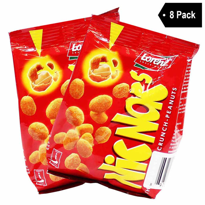 8 Pack Lorenz Nic Nacs Double Crunch Peanuts