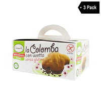 3 Pack Giampaoli Gluten Free Colomba Cake with Raisins