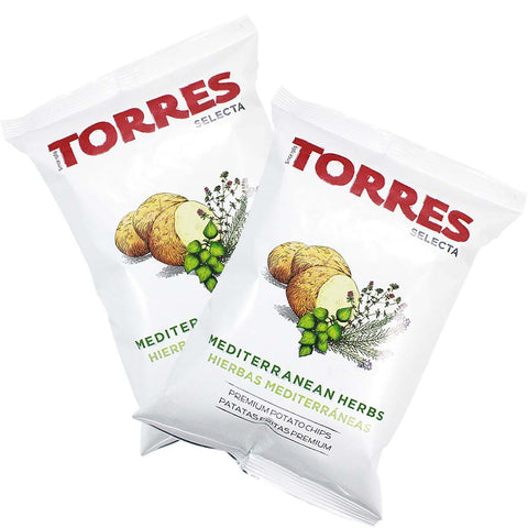 6 Packs of Small Mediterranean Herb Potato Chips by Torres