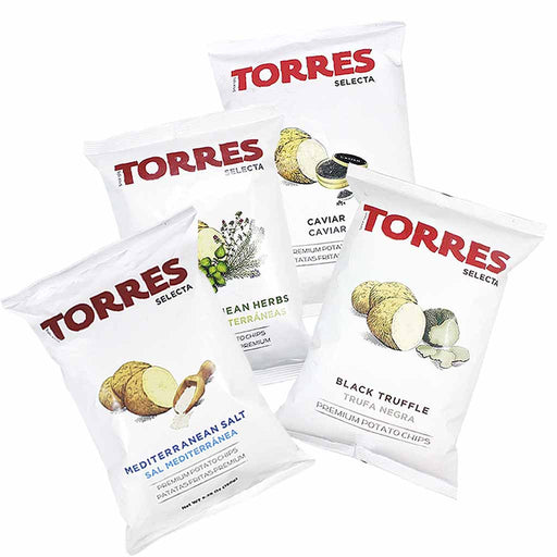 Torres - Truffle, Caviar, Herb, Sea Salt Chips, Large 4-Pack