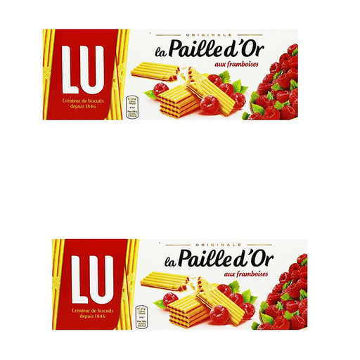 Lu Paille d'or Raspberry Cookies 170 Gr (2 Pack)