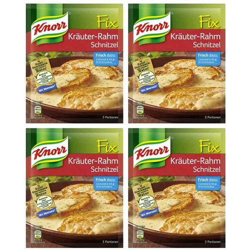 FREE Shipping | 4-Pack Knorr Fix for Schnitzel in Creamy Sauce with Herbs (1.6 oz x 4)