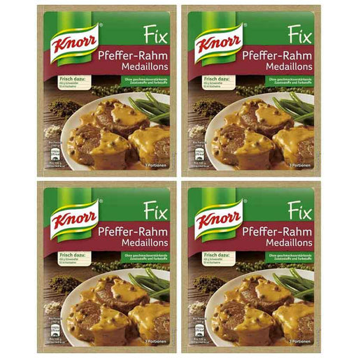 FREE Shipping | 4-Pack Knorr Fix Pepper Cream Sauce for Pork (1.2oz x 4)
