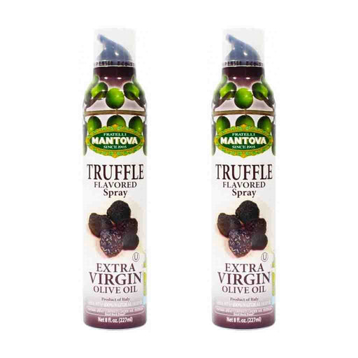 Free Shipping | 2-Pack Mantova Italian Truffle Flavored EVOO Spray (8 oz x 2)