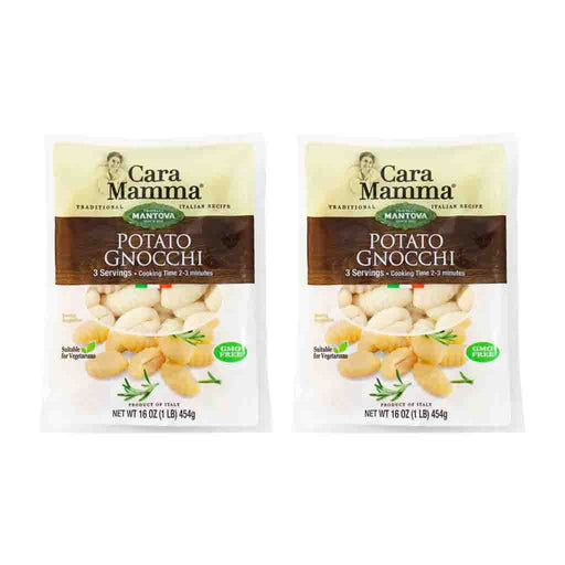 Free Shipping | 2-Pack Potato Gnocchi from Mantova Cara Mamma (16 oz x 2)