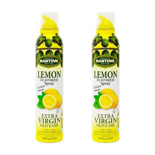 Free Shipping | 2-Pack Mantova Sicilian Lemon EVOO Spray 8 oz.