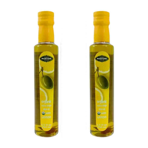 Free Shipping | 2-Pack Mantova Organic Lemon Extra Virgin Olive Oil 8.5 fl oz.