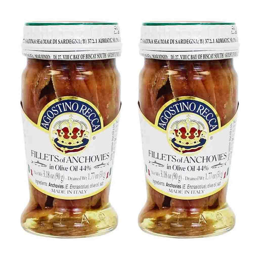 Free Shipping | 2-Pack Agostino Recca Anchovies, 28 22 oz