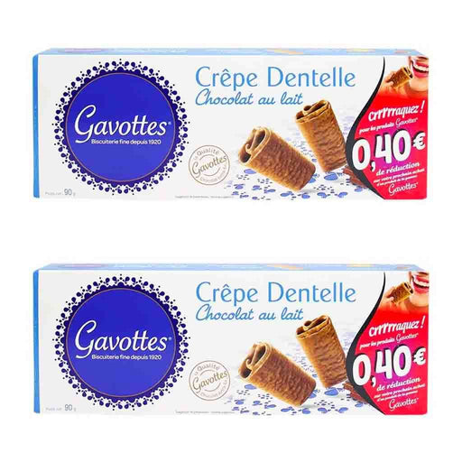 Free Shipping | 2-Pack Gavottes Milk Chocolate Crepe Dentelle (3.1 oz x 2)