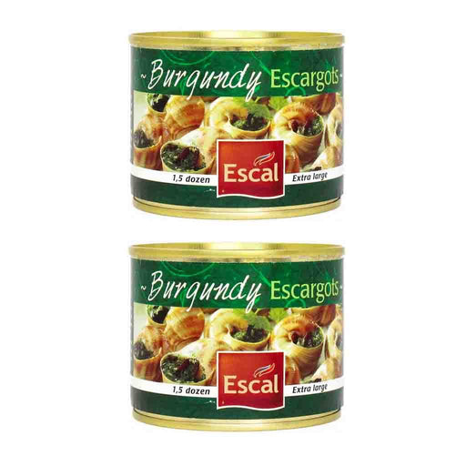 FREE Shipping | 2 Pack Escal Burgundy Escargots Snails, 1.5 Dozen (4.4 oz)