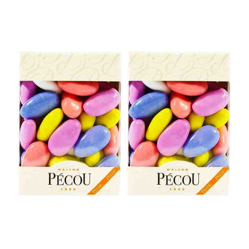 2 Pack Pecou Chocolate and Sugar Coated Marshmallows, 4.5 oz.
