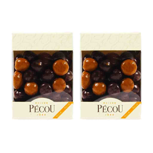 2 Pack Pecou Dark and Milk Chocolate Covered Meringue, 2.6 oz.
