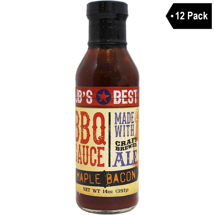 12 Pack JB's Best Beer-Infused BBQ Sauce - Maple Bacon