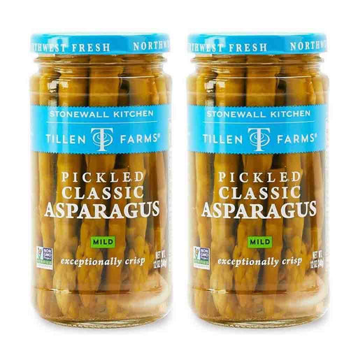 2 Pack Tillen Farms Pickled Mild Asparagus, 12 oz (340 g)